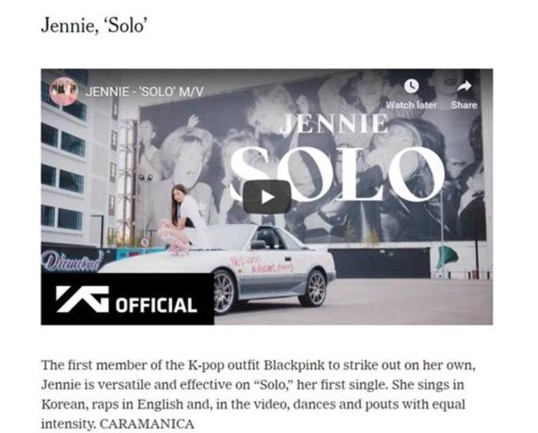 US press give repeated praise to Jennie's