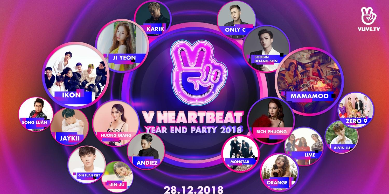 iKON, Mamamoo to join in V HEARTBEAT Live in Vietnam