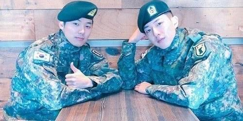 CNBlue's two members reunite in army: