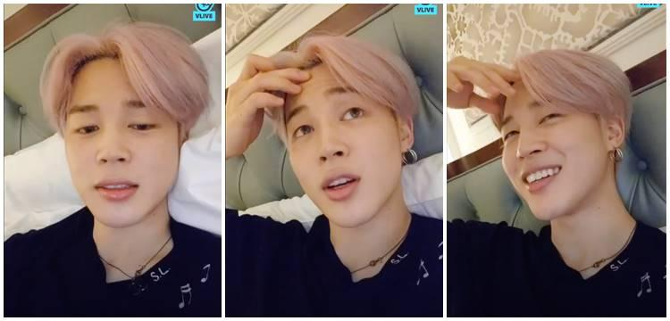 Jimin's sudden live broadcast seems to have cause V LIVE