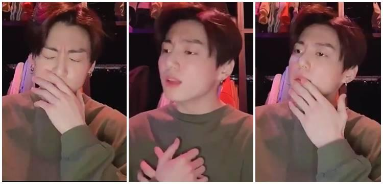 Jungkook (BTS)'s hilarious reaction to V's new song