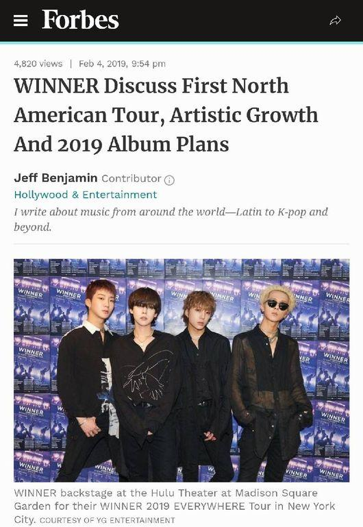Winner unveils about new album in interview with Forbes