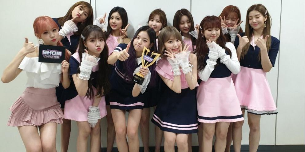 IZone claimed 6 No 1 trophies on music shows with