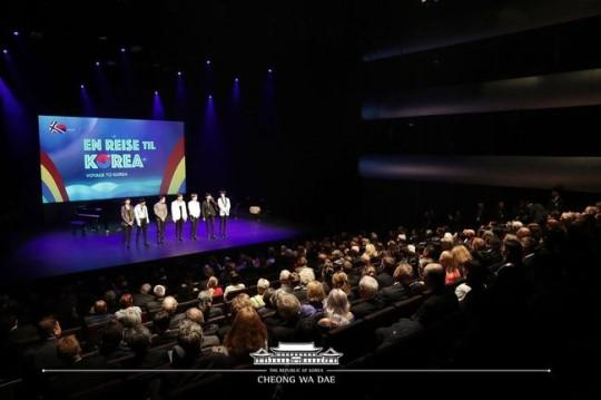 Monsta X meet President Moon Jae In at event in Norway