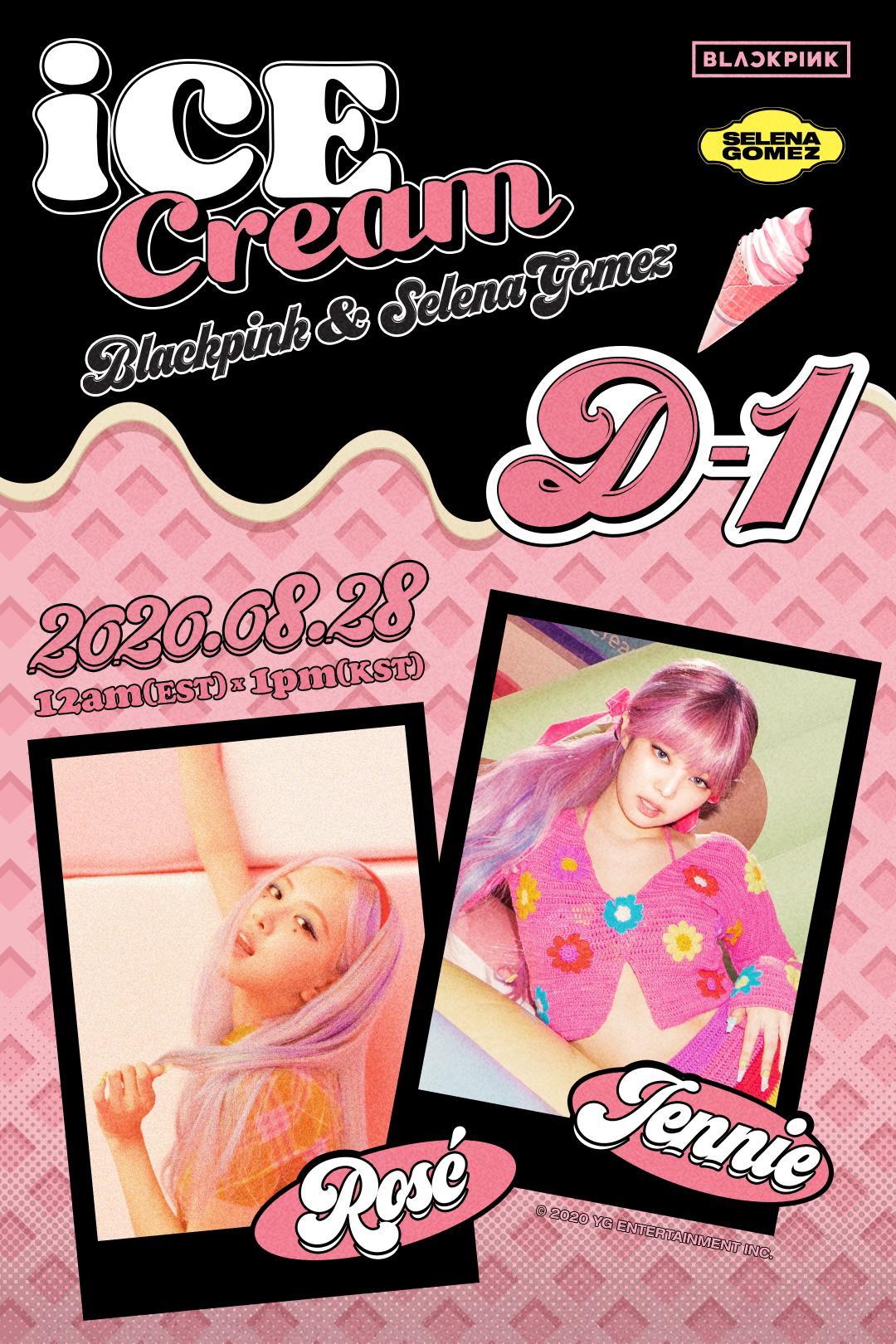 Blackpink X Selena Gomez Ice Cream D 1 Poster