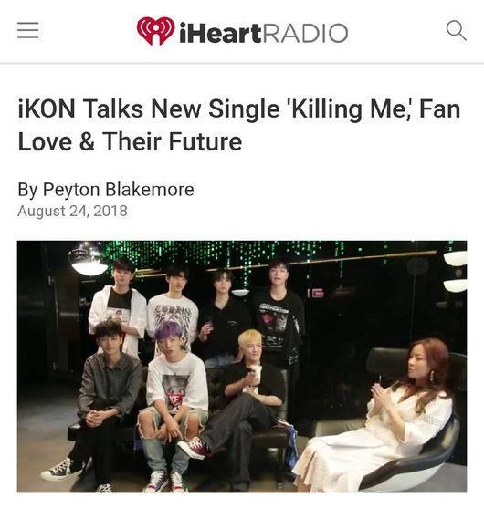 iKON appears on USA's famous program